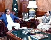کراچی: گورنر سندھ عمران اسماعیل سے وزیر اعظم کی معاون خصوصی برائے اطلاعات ..