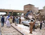 حیدر آباد: ریلوے انتظامیہ کے زیر اہتمام تجاوزات کے خلاف آپریشن کیا ..