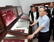 ٹیکسلا: چینی نائب صدر ٹیکسلا میوزیم کا دورہ کر رہے ہیں۔