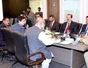 لاہور: چیئرمین این ڈی ایم اے لیفٹیننٹ جنرل محمد افضل پی ڈی ایم اے آفس ..