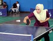 پشاور: آل پاکستان ٹیبل ٹینس چمپئن شپ میں خیبر پختونخوا کی کھلاڑی سائرہ ..