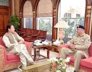 اسلام آباد: وزیر اعظم عمران خان سے چیف آف دی سٹاف کمیٹی جنرل زبیر محمود ..