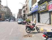 کراچی: ٹیکسز کے خلاف الیکٹرانک مارکیٹ موبائل مارکیٹ جوئیلرز کی دکانیں ..