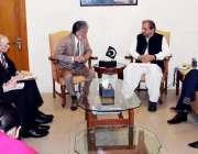 اسلام آباد: وفاقی وزیر تعلیم شفقت محمود سےJICA کا وفد ملاقات کررہا ہے۔