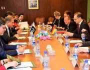 اسلام آباد: وزیر خارجہ مخدوم شاہ محمود قریشی سے جرمن وزیر خارجہ ہائیکوماس ..