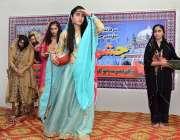 لاڑکانہ: بیگم نصرت بھٹو گورنمنٹ گرلز ڈگری کالج میں جشن لطیف تقریب کے ..