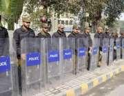 لاہور: پنجاب لینڈ ریکارڈ اتھارٹی کے ملازمین کے فیصل چوک میں اھتجاج ..