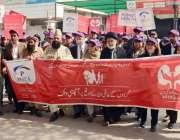 لاہور: گردوں کے عالمی دن پر جنرل ہسپتال میں آگاہی واک کی جا رہی ہے۔