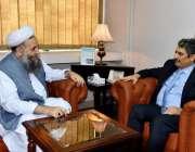 اسلام آباد: وزیر مذہبی امور پیرنورالحق قادری سے شام کے سفیرڈاکڑ مازن ..