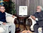 اسلام آباد: صدر مملکت ڈاکٹر عارف علوی سے جسٹس ڈاکٹر محمد الغزالی ملاقات ..