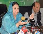 لاہور: وزیر صحت پنجاب ڈاکٹریاسمین راشد ڈی جی پی آر میں پریس کانفرنس ..