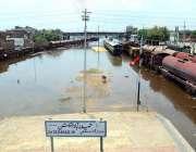 حیدر آباد: شہر میں ہونے والی موسلا دھار بارش کے بعد ریلوے ٹریک پانی ..