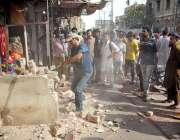 حیدر آباد: نیو کلاتھ مارکیٹ میں تجاوزات کے خلاف آپریشن کیا جا رہا ہے۔