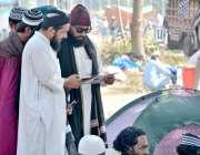 اسلام آباد: وفاقی دارالحکومت میں ایچ 9 پر دھرنے کے دوران جے یو آئی ف ..