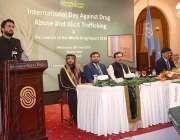 اسلام آباد: وزیر مملکت برائے سیفران شہر یار خان آفریدی منشیات کے خلاف ..