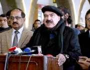 راولپنڈی: وفاقی وزیر ریلوے شیخ رشید احمد ریلوے اسٹیشن پر میڈیا سے گفتگو ..