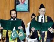اسلام آباد: پاکستان کی معزز چیف جسٹس فیڈرل شریعت کورٹ ، مسٹر جسٹس محمد ..