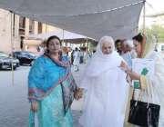 لاہور: مسلم لیگ (ن) کی خواتین اراکین اسمبلی پنجاب اسمبلی کے اجلاس میں ..