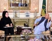 لاہور: گورنر پنجاب چوہدری محمد سرور سے پینے کے صاف پانی کے حوالے سے ..