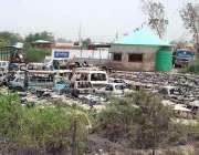 حیدر آباد: ہیٹری پولیس اسٹیشن کے باہر گاڑیں کھڑی کھڑی ناکارہ ہو رہی ..