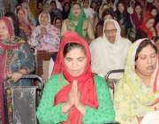 لاہور: سینٹ آسولڈز چرچ میں گڈ فرائیڈے کی مناسبت سے ہونیوالی دعائیہ ..