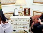 لاہور: قائمقام گورنر پنجاب چوہدری پرویز الہٰی سے چین کے سفیر ہاؤجنگ ..