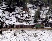 مری: برفباری کے بعد علاقہ خوبصورت منظر پیش کر رہا ہے۔