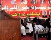 پشاور: عوامی نیشنل پارٹی کے صوبائی جنرل سیکرٹری سردار حسین بابک پشاور ..