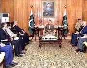 اسلام آباد: صدر مملکت ڈاکٹر عارف علوی سے چیئرمین امریلی سٹیلزاکبر علی ..
