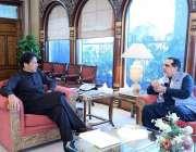 اسلام آباد: وزیراعظم عمران خان سے گورنر سندھ عمران اسماعیل ملاقات کر ..