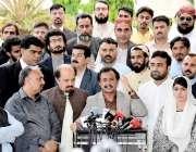 کراچی: پاکستان تحریک انصاف سندھ کے قائمقام صدر و پارلیمانی امور حلیم ..