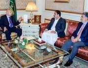 لاہور: گورنر پنجاب چوہدری محمد سرورسے وزیر اعلیٰ عثمان بزدار اور صوبائی ..