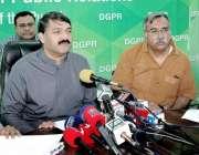 لاہور: وزیر اعلیٰ شکایت سیل کے چیئرمین ملک اسد علی کھوکھر ڈی جی پی آر ..