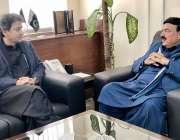 اسلام آباد: وفاقی وزیر ریلوے شیخ رشید احمد سے خیبر پختونخوا کے سینئر ..