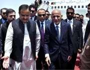 لاہور: افغان صدر اشرف غنی کا لاہور ایئرپورٹ پر وزیر اعلیٰ پنجاب عثمان ..