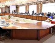 اسلام آباد: وزیر اعظم عمران خان وفاقی کابینہ کے اجلاس کی صدارت کر رہے ..
