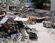 راولپنڈی: شہر کے مختلف بازاروں کی تجاوزات سے اٹھایا گیا سامان ٹی ایم ..