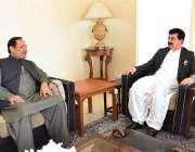 اسلام آباد: قائم مقام صدر محمد صادق سنجرانی سینیٹر دلاور خان سے گفتگو ..