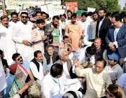 لاہور: لاہور سمیت مختلف اضلاع کے بلدیاتی نمائندے نئے بلدیاتی نظام کے ..