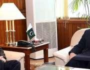 اسلام آباد: اسپیکر قومی اسمبلی اسد قاصر سے پارلیمنٹ ہاؤس میں بیلاروس ..