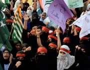 لاہور: کشمیر خواتین کمیٹی کے زیراہتمام کشمیریوں سے اظہاریکجہتی کیلئے ..