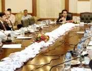لاہور:صوبائی وزیر خزانہ پنجاب مخدوم ہاشم جواں بخت کابینہ کمیٹی برائے ..