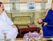 لاہور: گورنر پنجاب چوہدری محمد سرور سے صوبائی وزیر کمیونیکیشن اینڈ ..
