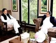 اسلام آباد: وزیر اعظم عمران خان سے معاون خصوصی برائے توانائی ندیم بابر ..