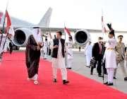 اسلام آباد: وزیر اعظم عمران خان اور قطر کے امیر شیخ تمیم بن حماد الثانی ..