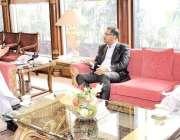 اسلام آباد: وزیر اعظم عمران خان سے بیرسٹر سید علی ظفر ملاقات کر رہے ..
