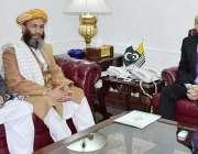 اسلام آباد: صدر آزاد کشمیر سردار مسعود خان سے جے یو آئی کمشیر کے رہنما ..