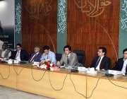 اسلام آباد: وفاقی وزیر منصوبہ بندی مخدوم خسرو بختیار سنٹرل ڈویلپمنٹ ..