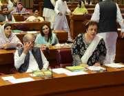 اسلام آباد: شیریں مزاری قومی اسمبلی کے اجلاس سے خطاب کر رہی ہیں۔