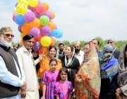 اٹک: چیئرپرسن ضلع کونسل ایمان طاہر ضلع کونسل کی جانب سے سپیشل بچوں کے ..